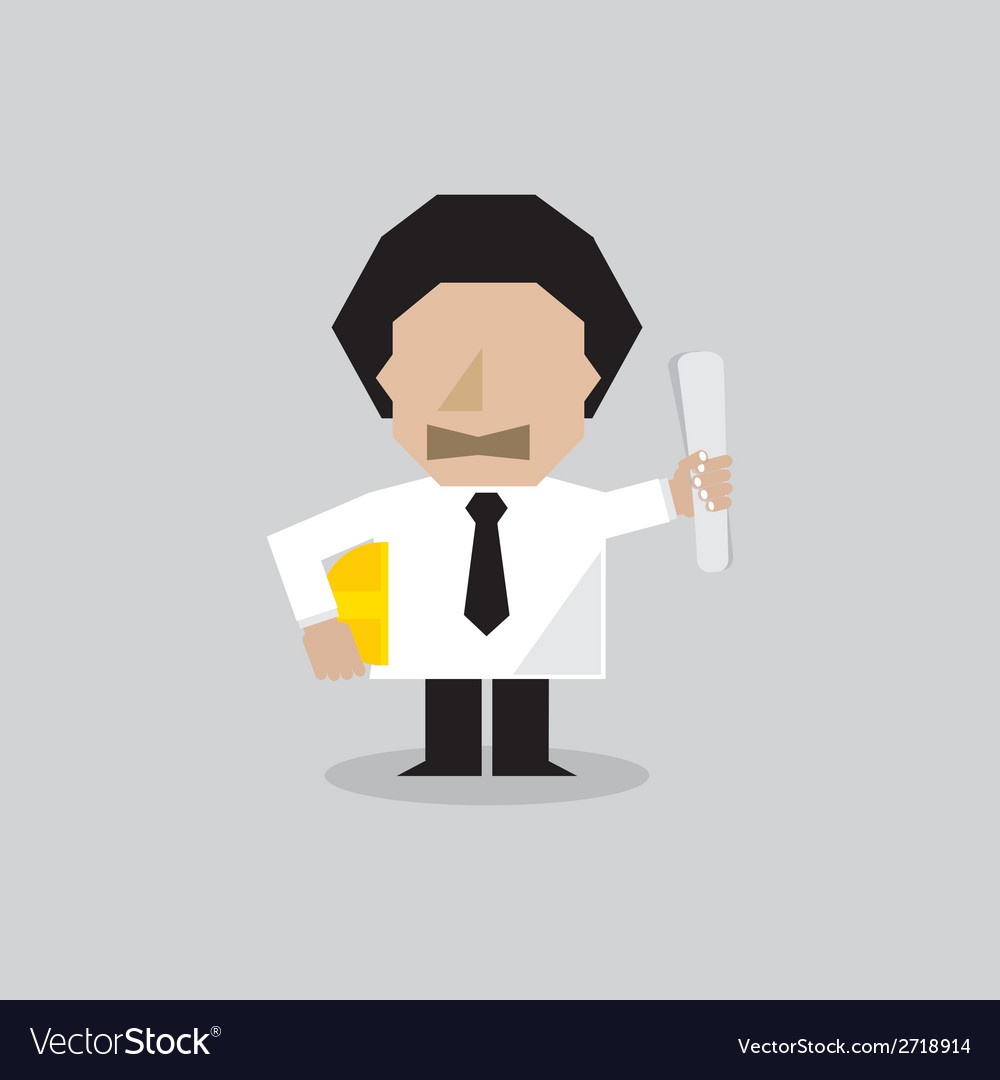 Engineer man character vector | Price: 1 Credit (USD $1)