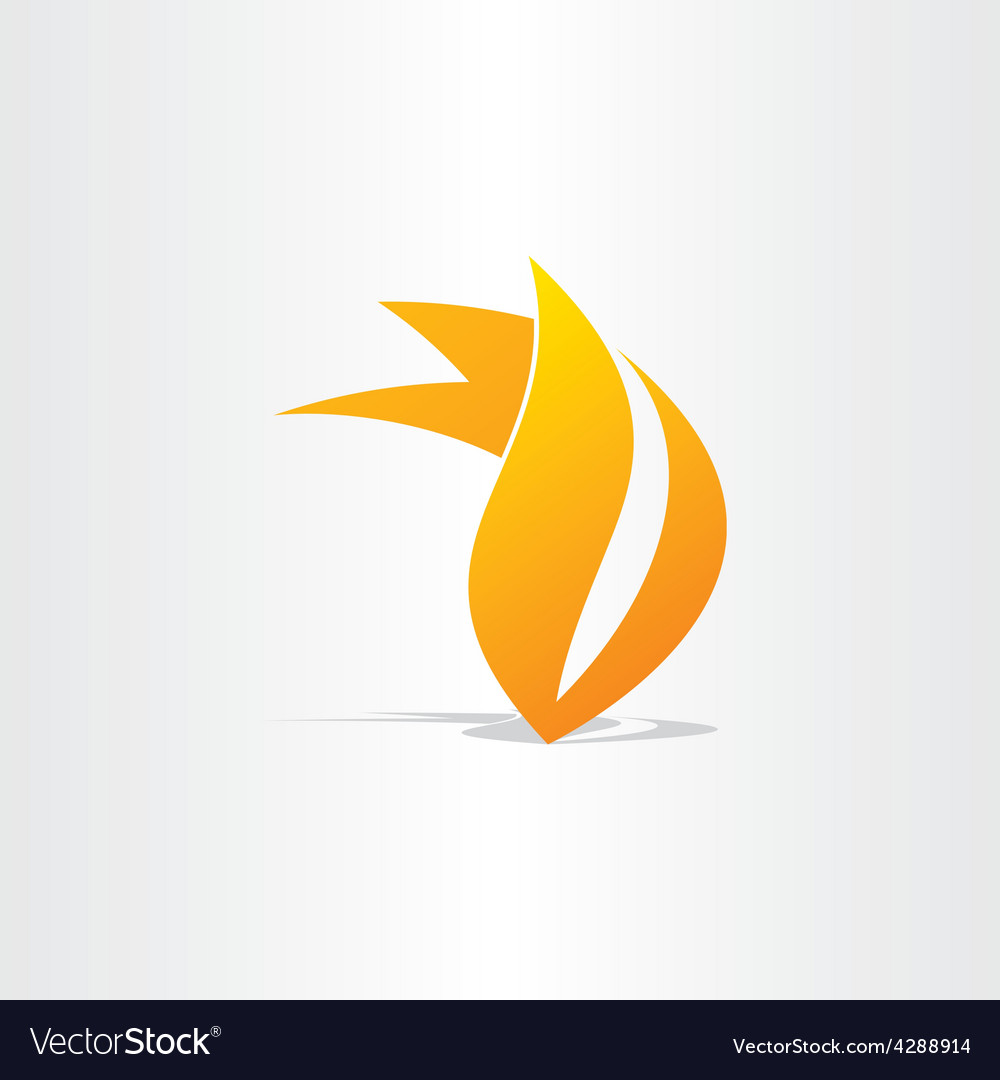 Fire burn symbol design vector | Price: 1 Credit (USD $1)
