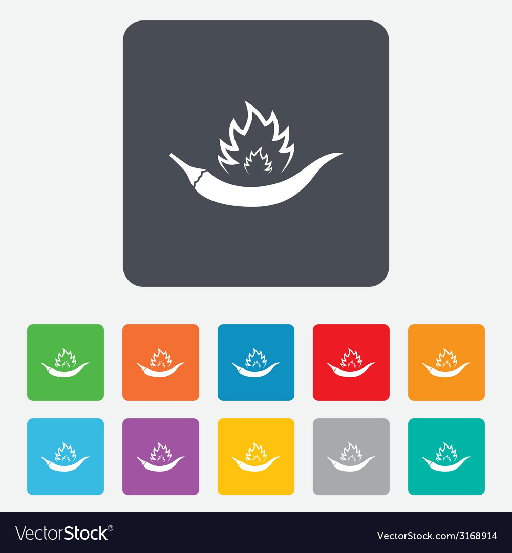 Hot chili pepper sign icon spicy food symbol vector | Price: 1 Credit (USD $1)