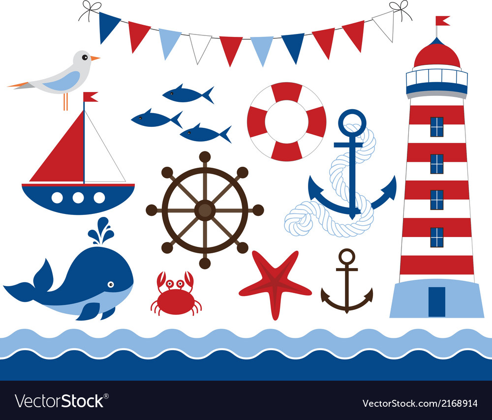 Nautical set vector | Price: 1 Credit (USD $1)