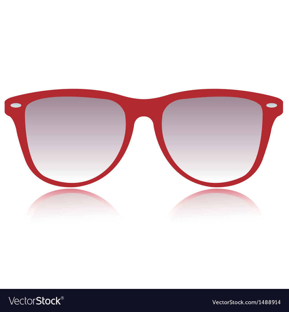 Red sunglasses vector | Price: 1 Credit (USD $1)
