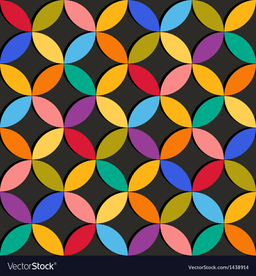 Seamless geometric pattern with colorful elements vector | Price: 1 Credit (USD $1)