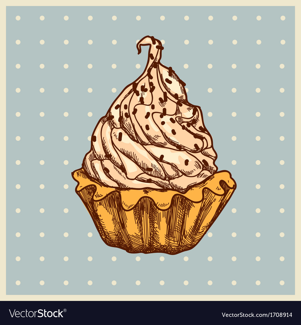 Vanilla dessert vector | Price: 1 Credit (USD $1)