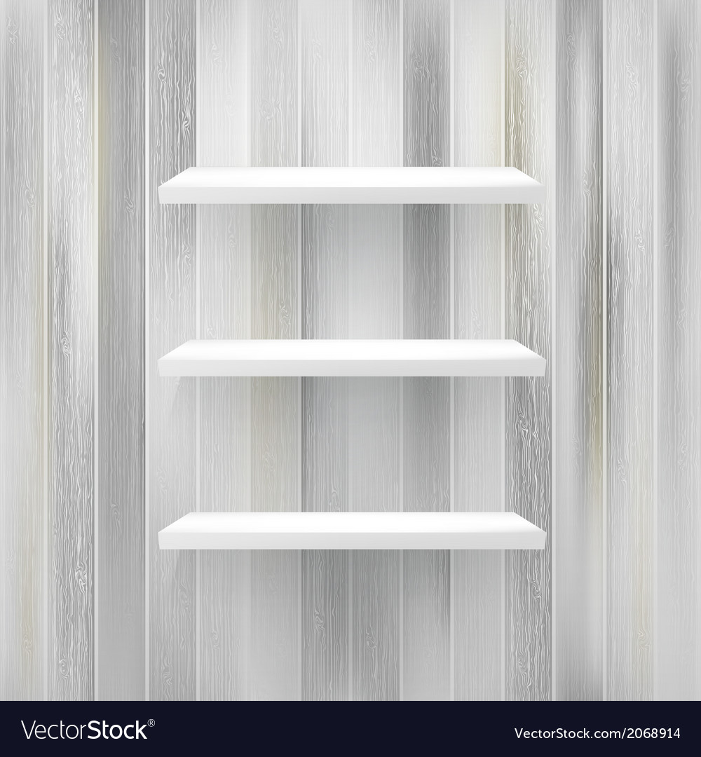 Wood shelf on wood background  eps10 vector | Price: 1 Credit (USD $1)