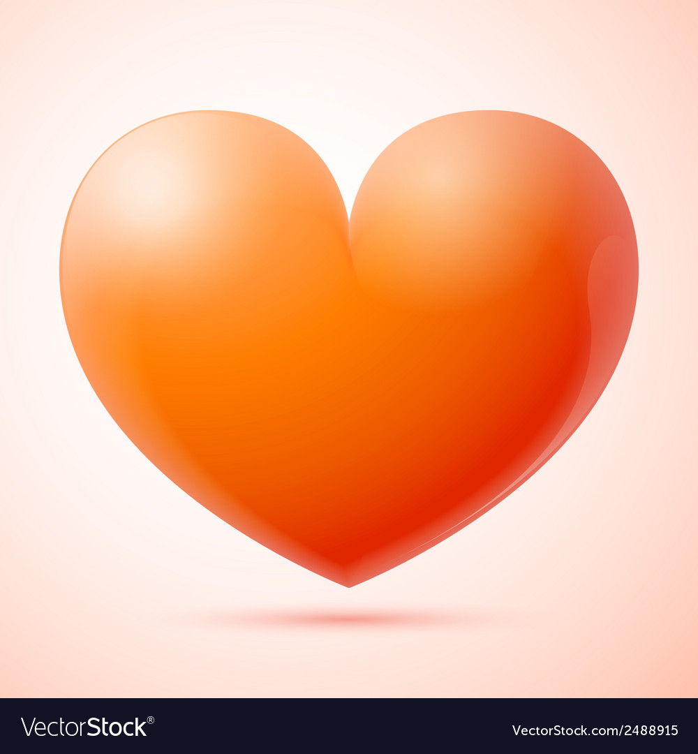3d heart isolated vector | Price: 1 Credit (USD $1)