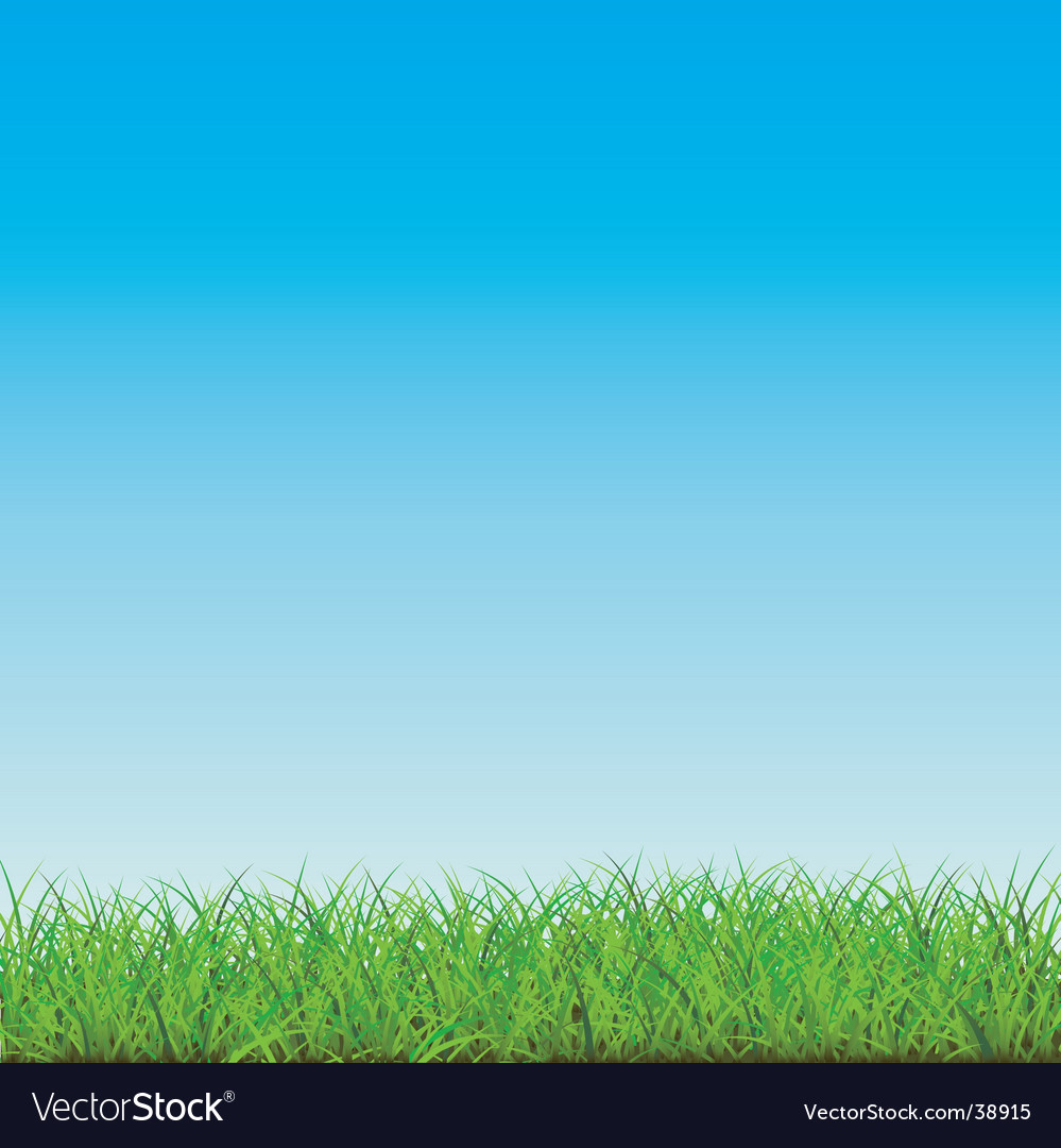 Blue sky with green field vector | Price: 1 Credit (USD $1)