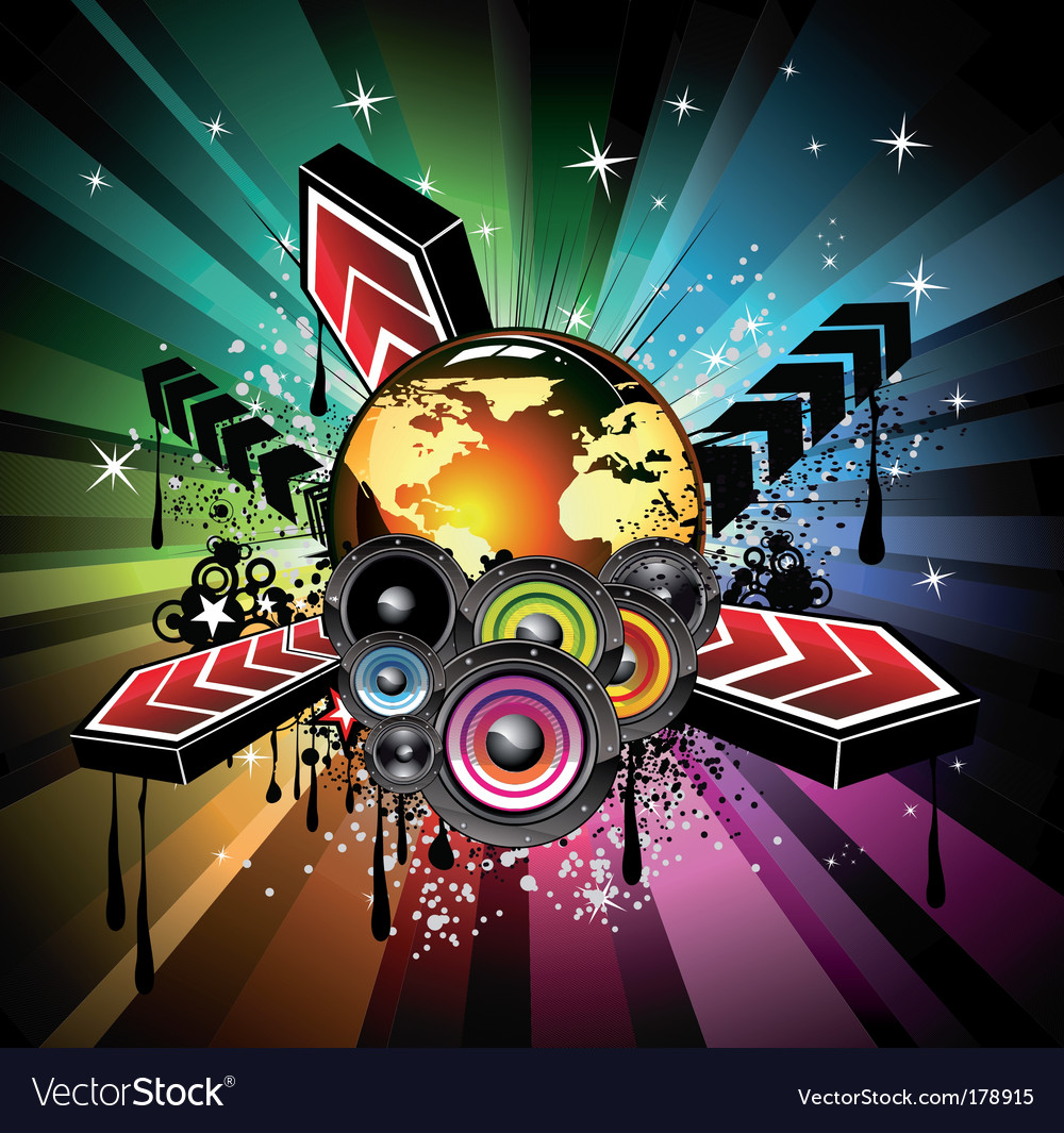 Global musical event background vector | Price: 3 Credit (USD $3)