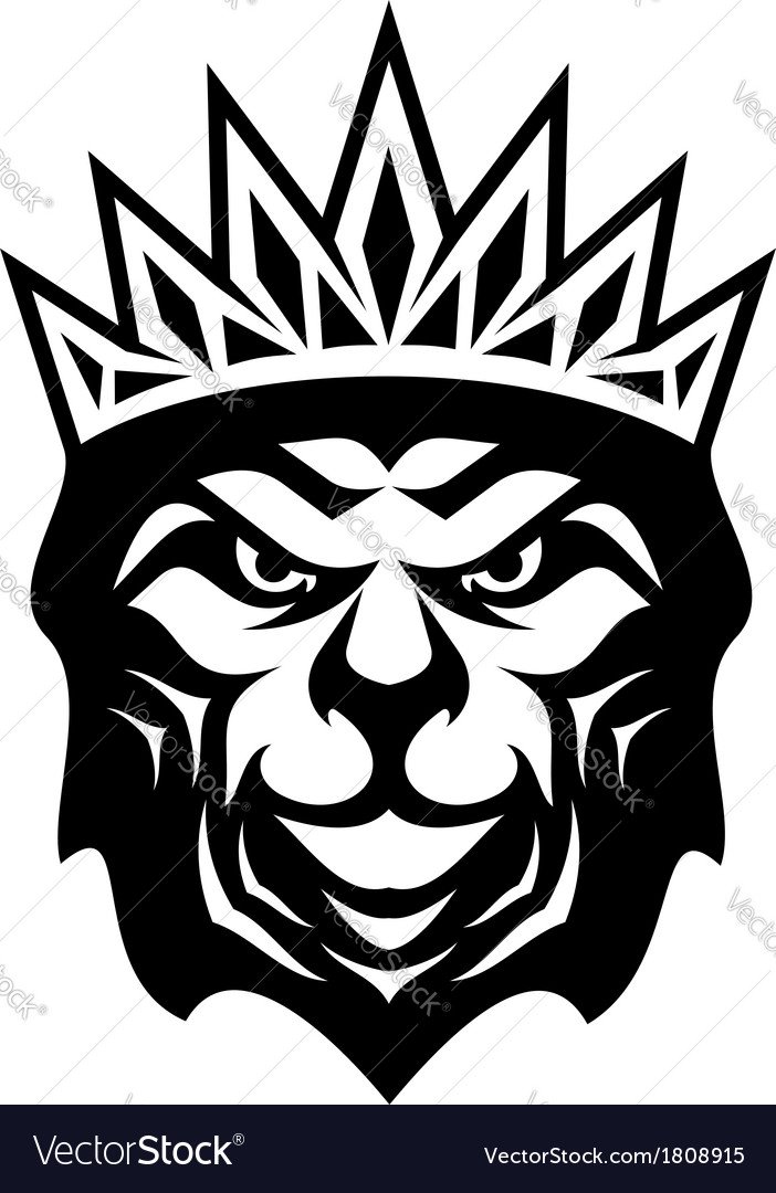 Heraldic crowned lion vector | Price: 1 Credit (USD $1)