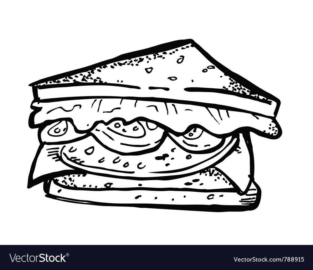 Sandwich doodle vector | Price: 1 Credit (USD $1)