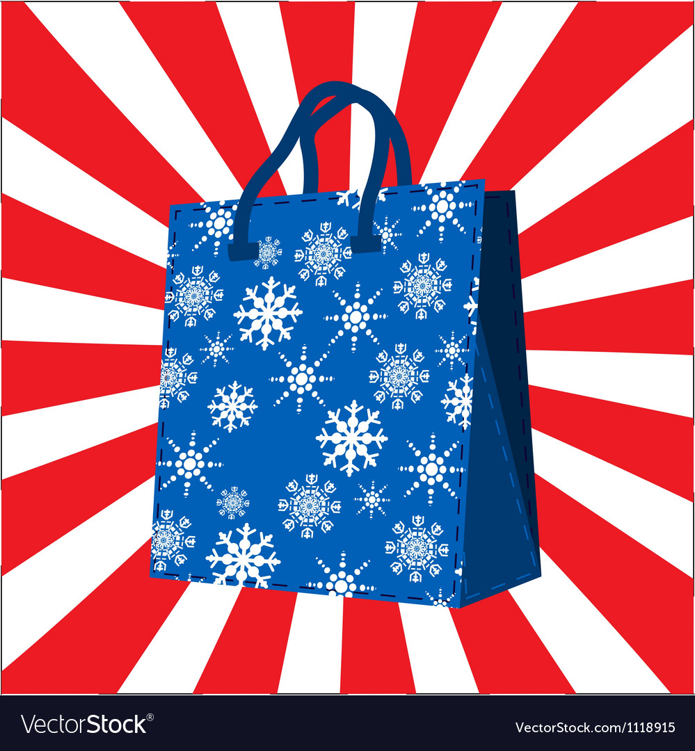 Winter sales shopping bag vector   Price: 1 Credit (USD $1)