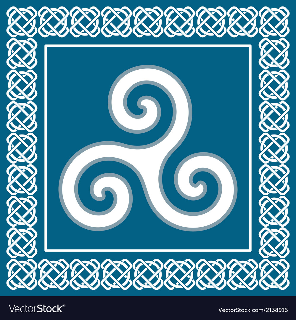 Ancient symbol triskeliontraditional celtic desig vector | Price: 1 Credit (USD $1)