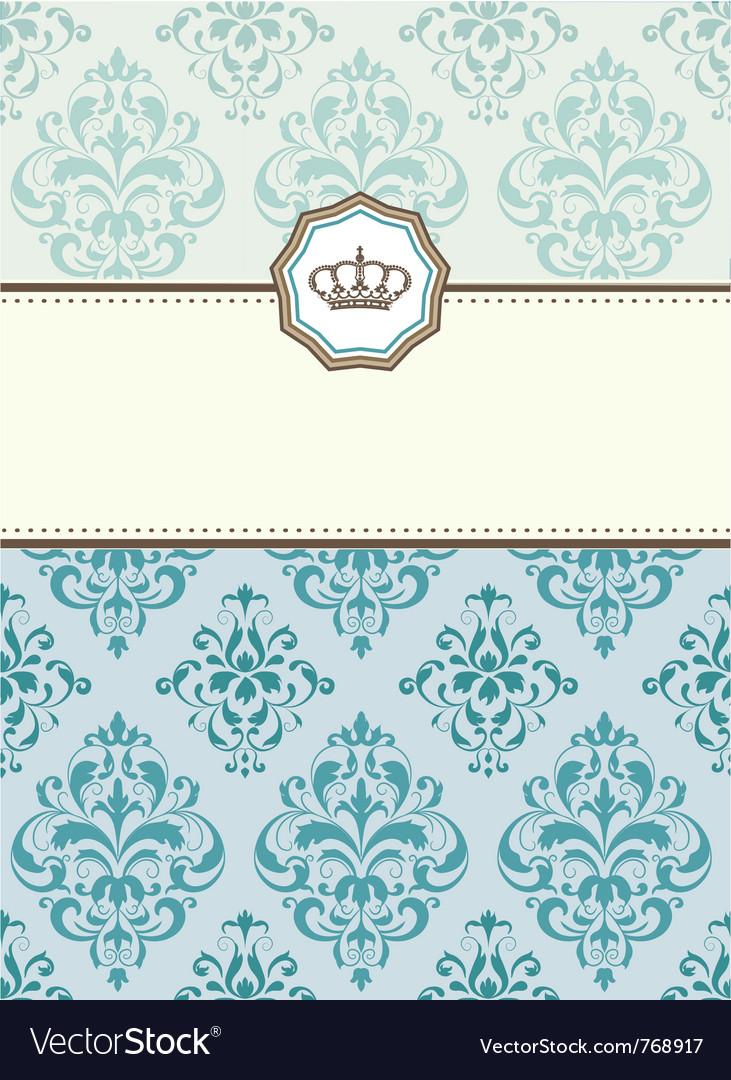 Baroque card vector | Price: 1 Credit (USD $1)