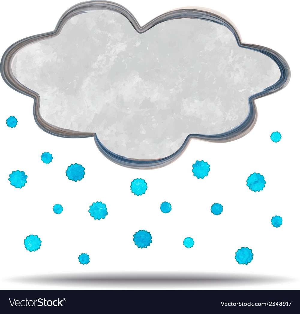 Climate cloud and hail vector | Price: 1 Credit (USD $1)