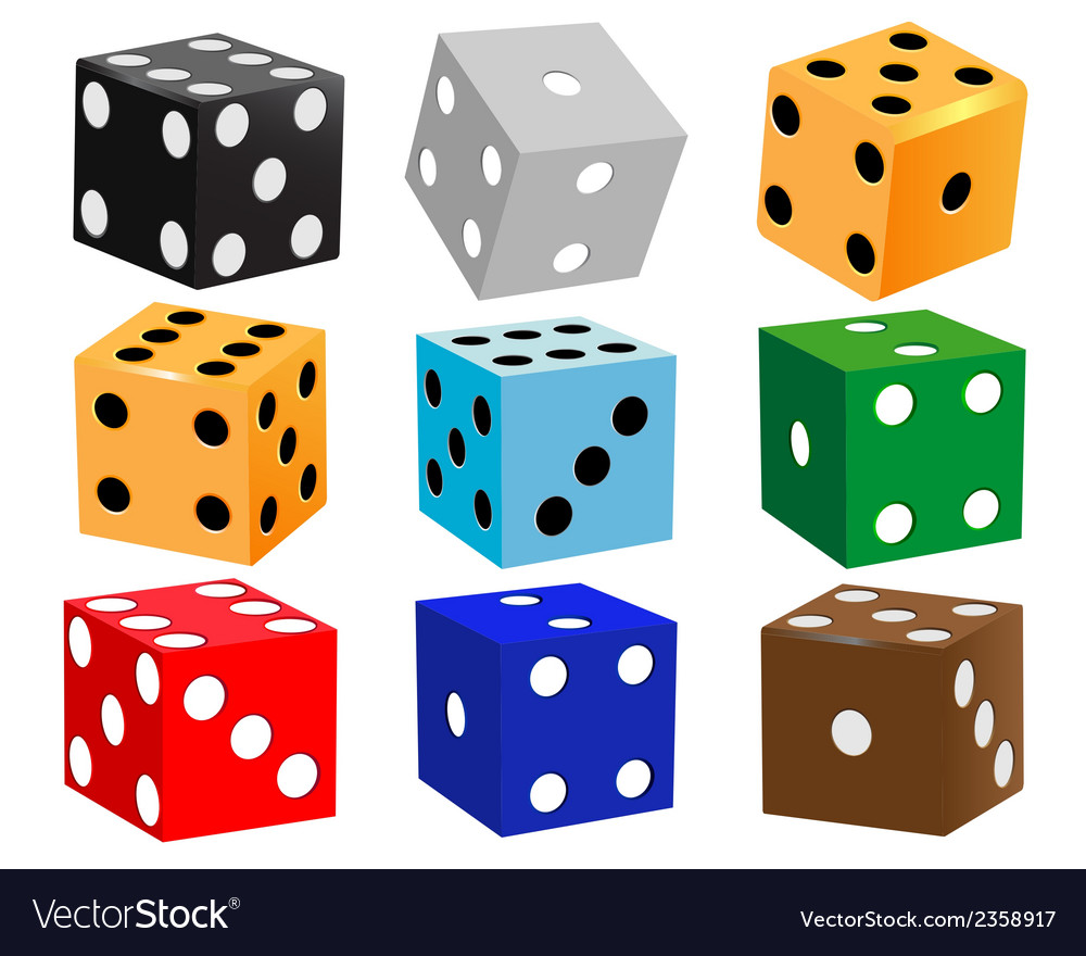 Dice for games vector | Price: 1 Credit (USD $1)