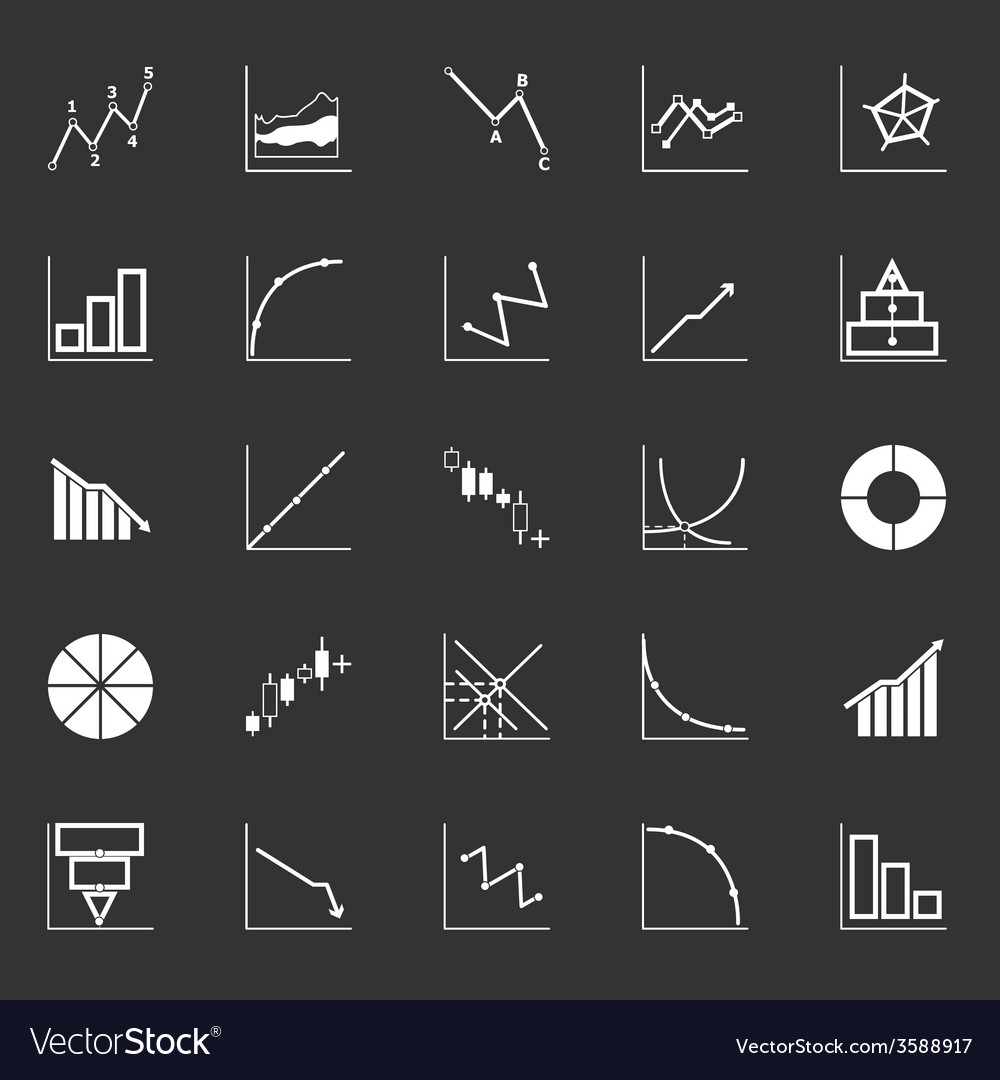 Economic and investment diagram line icon on gray vector | Price: 1 Credit (USD $1)
