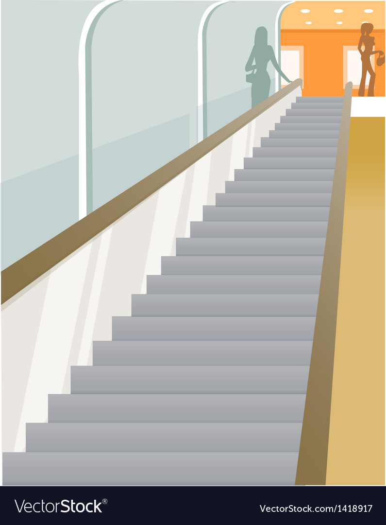 Escalator vision vector | Price: 1 Credit (USD $1)
