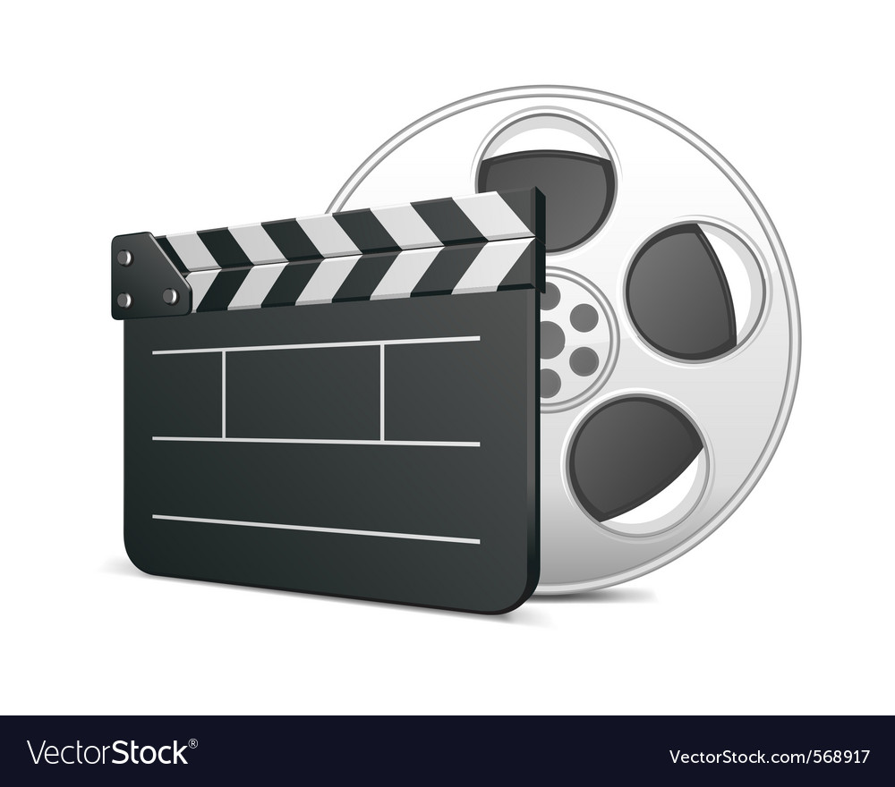 Film clap board icon vector | Price: 1 Credit (USD $1)
