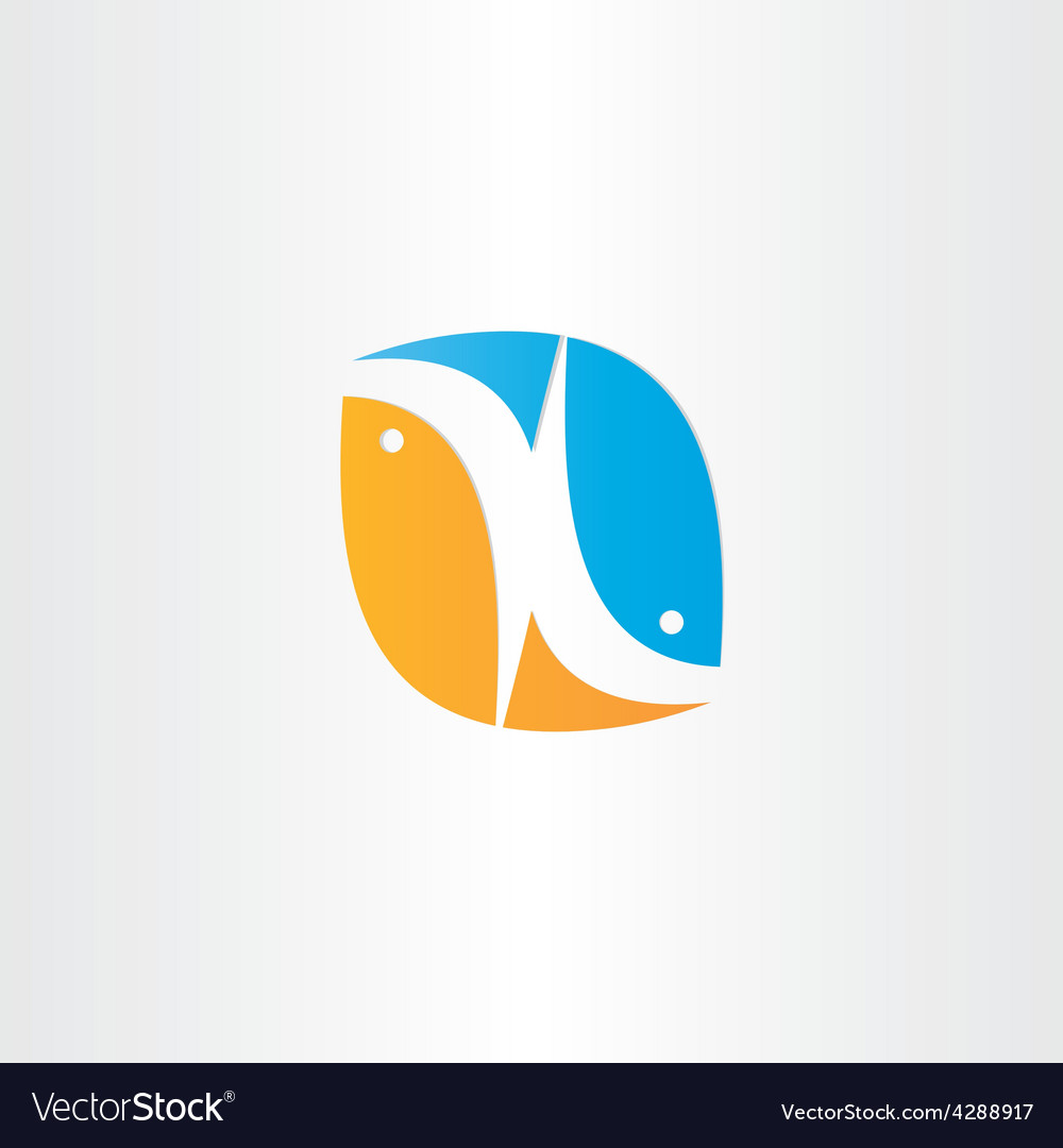Fish jump from water icon vector | Price: 1 Credit (USD $1)