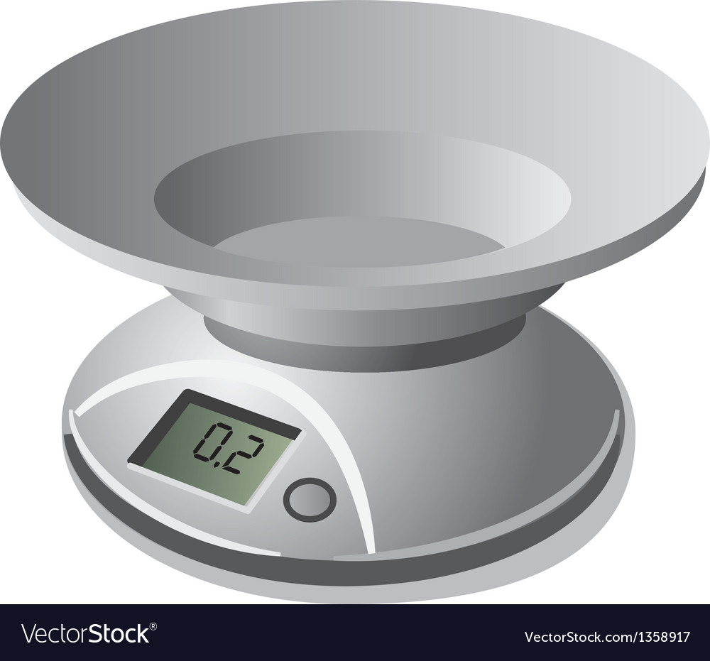 Kitchen scale weight vector | Price: 1 Credit (USD $1)