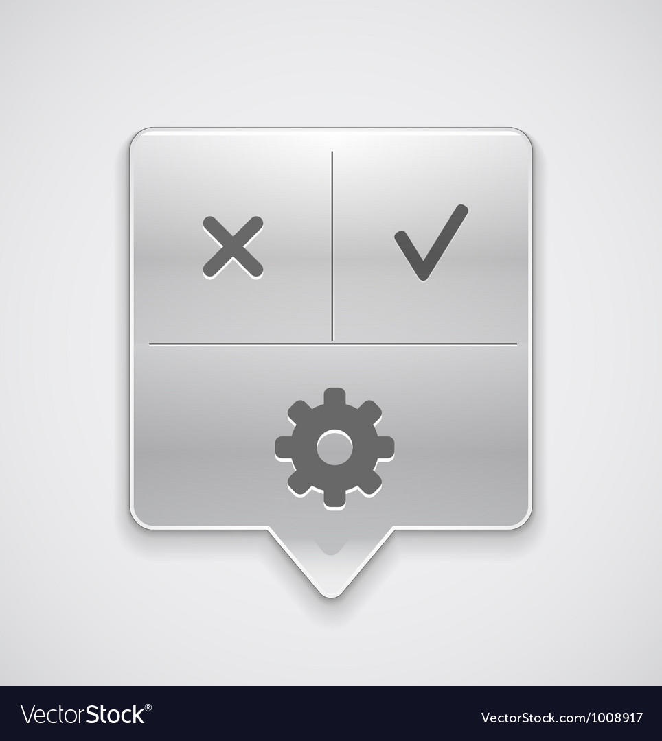 Settings pointer button vector | Price: 1 Credit (USD $1)