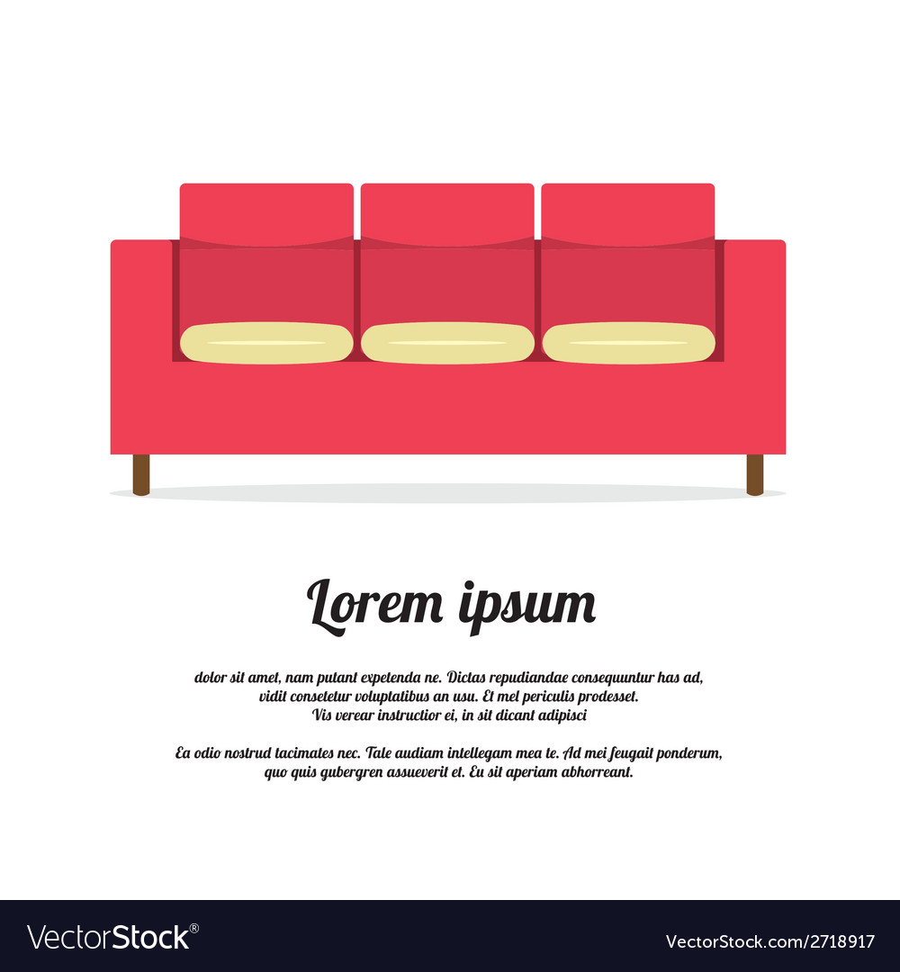 Vintage sofa vector | Price: 1 Credit (USD $1)