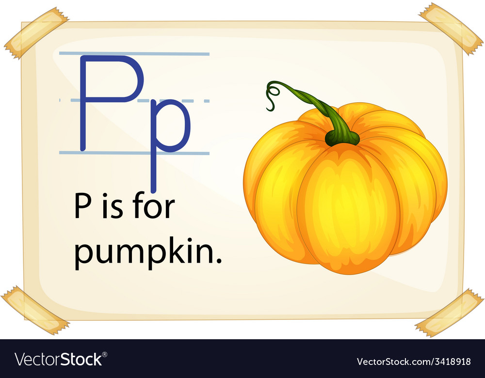 A letter p for pumpkin vector | Price: 1 Credit (USD $1)