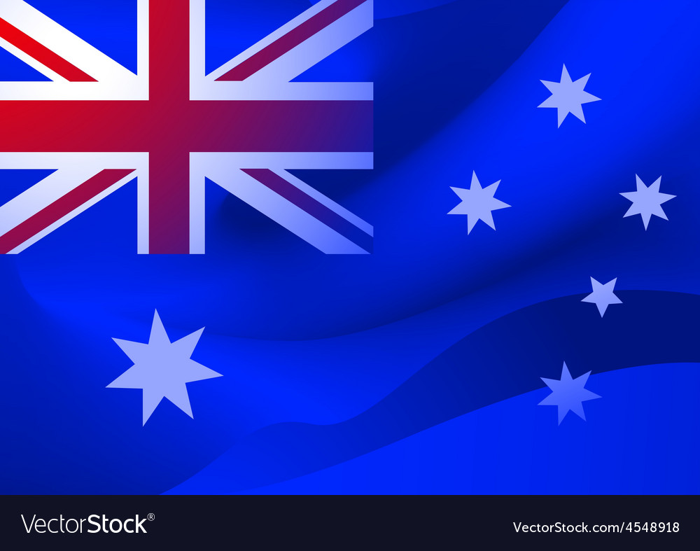 Abstract australian flag in the wind vector | Price: 1 Credit (USD $1)