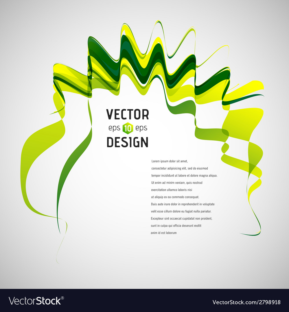 Abstract line background waving ribbon banner vector | Price: 1 Credit (USD $1)