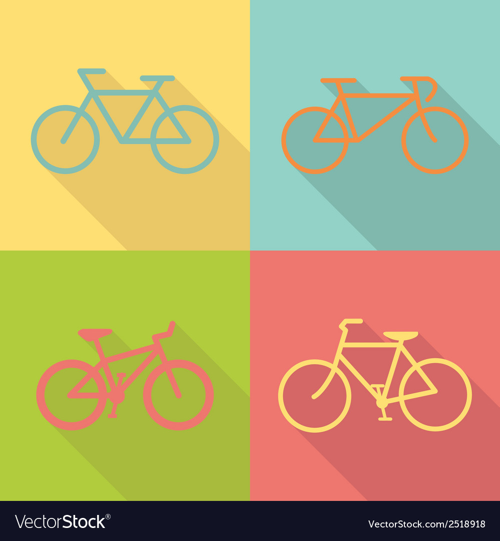 Bicycle flat icon design vector | Price: 1 Credit (USD $1)