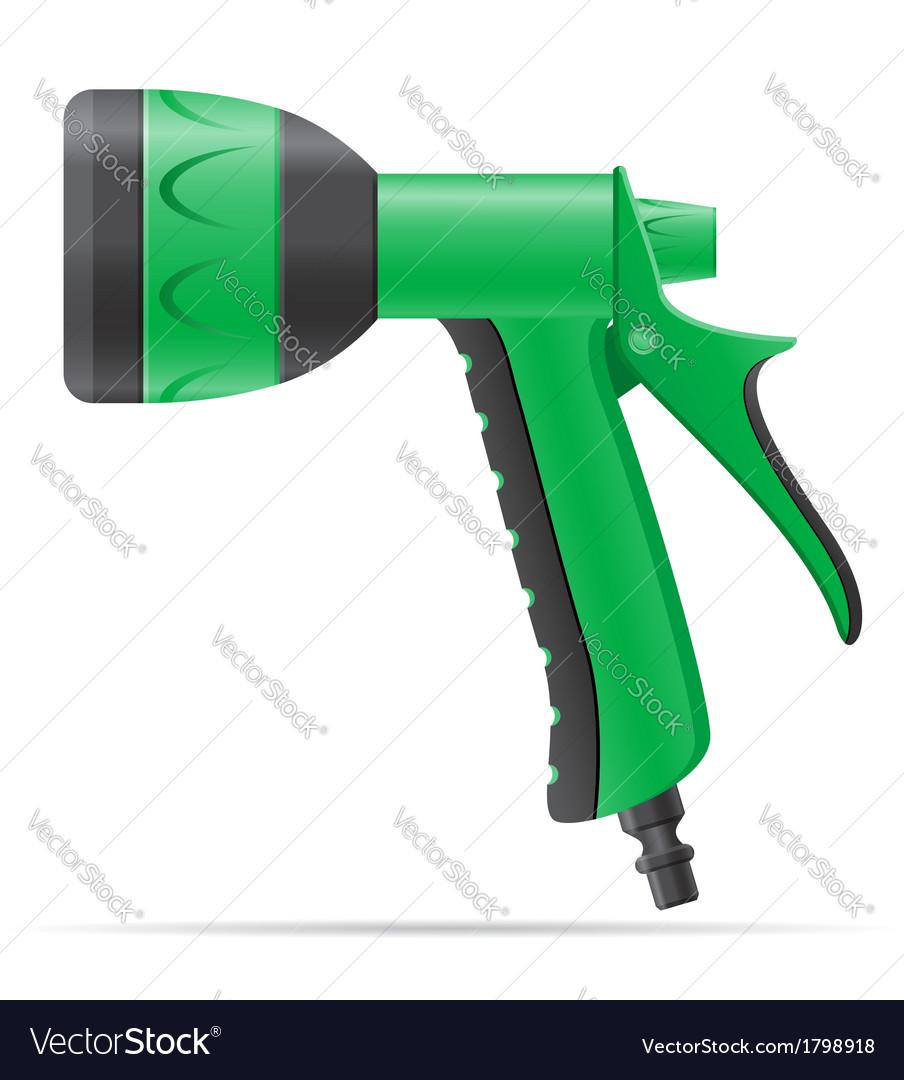 Garden watering gun vector | Price: 1 Credit (USD $1)