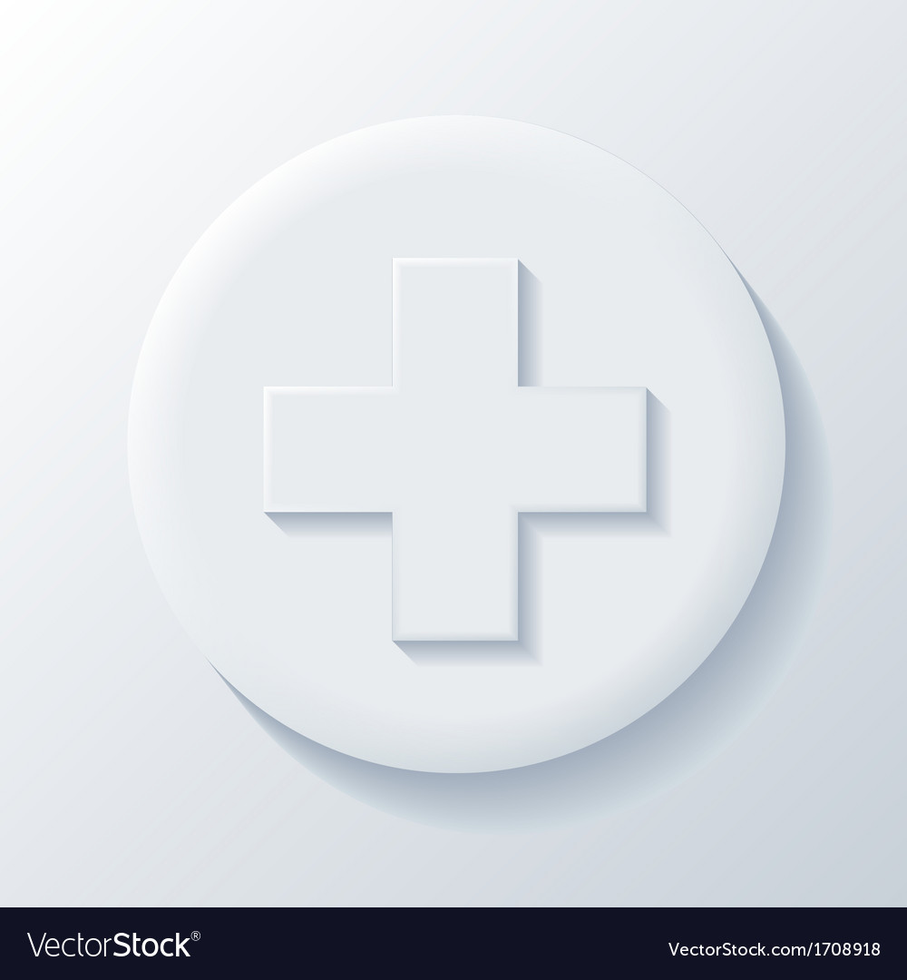 Medicine 3d paper icon vector | Price: 1 Credit (USD $1)