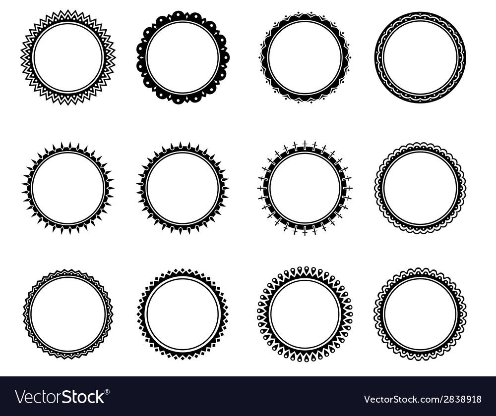 Old fashioned nice circle vector | Price: 1 Credit (USD $1)