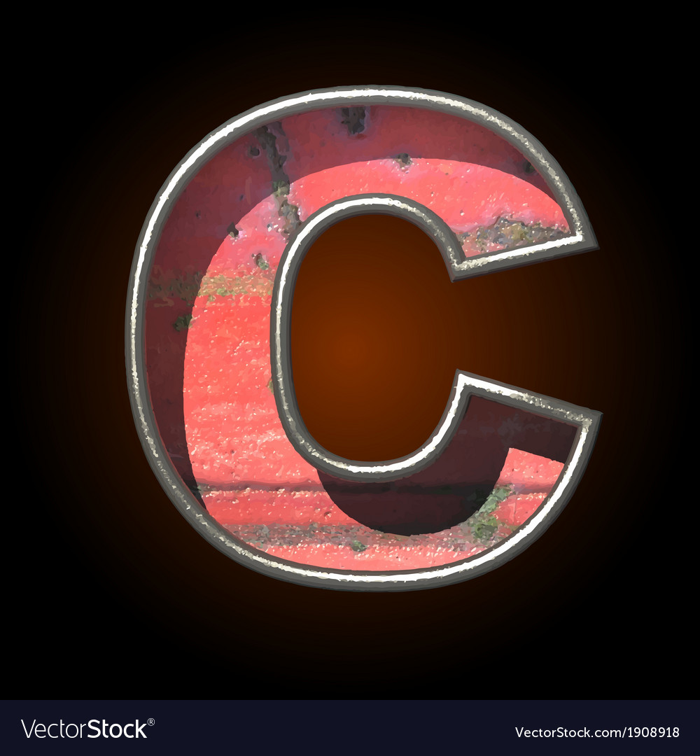 Old metal letter c vector | Price: 1 Credit (USD $1)