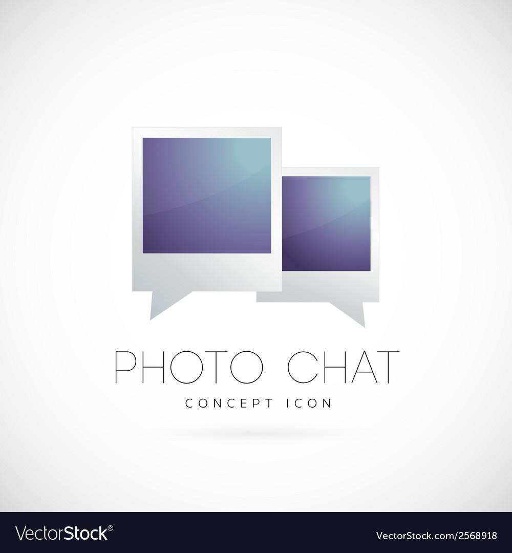 Photo chat concept symbol icon vector | Price: 1 Credit (USD $1)