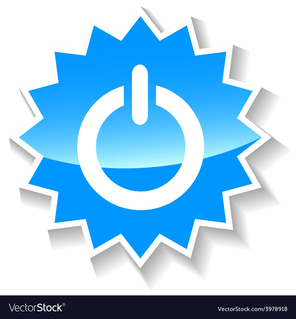 Power blue icon vector | Price: 1 Credit (USD $1)