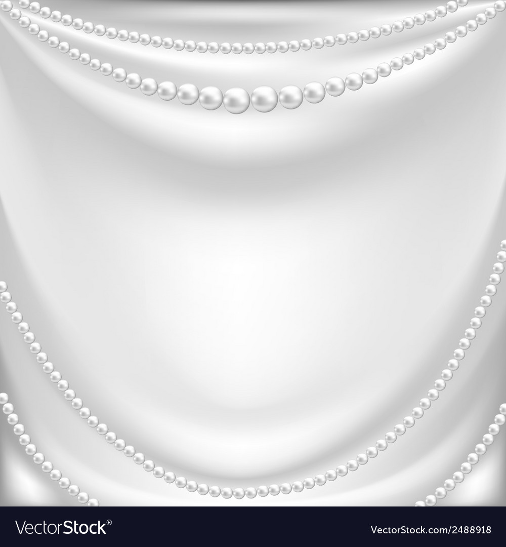 Silk drapery and pearl necklace vector | Price: 1 Credit (USD $1)