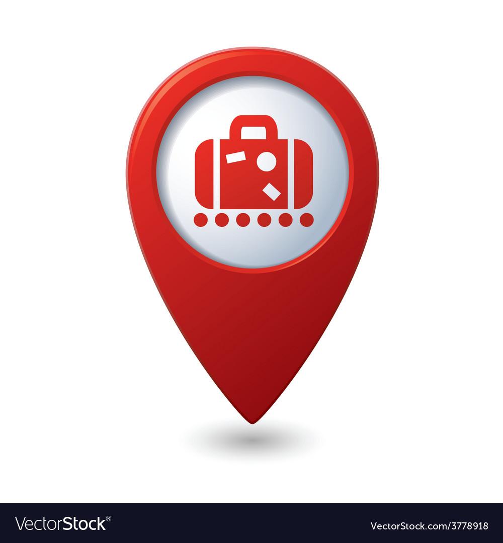 Suitecase red pointer vector | Price: 1 Credit (USD $1)