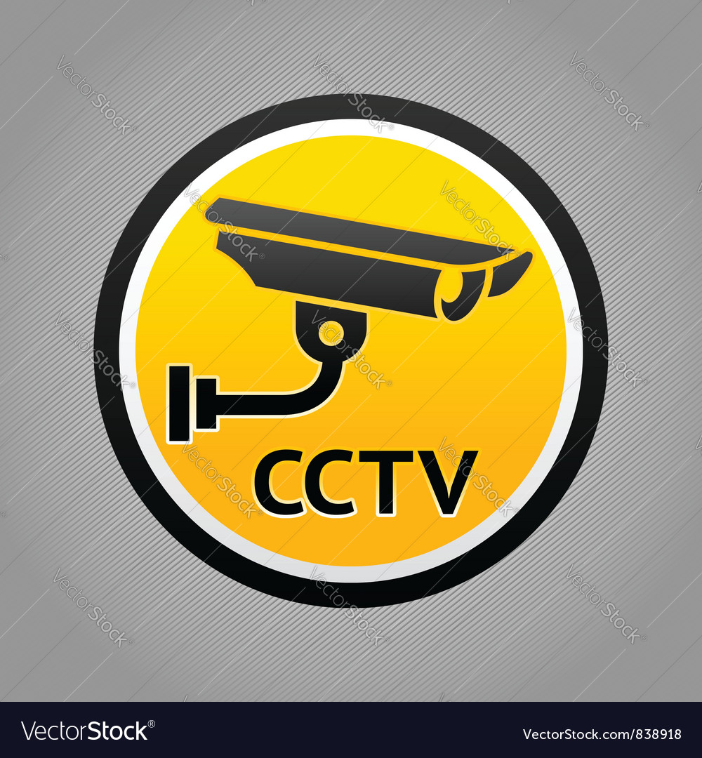 Surveillance camera warning pictogram vector | Price: 1 Credit (USD $1)