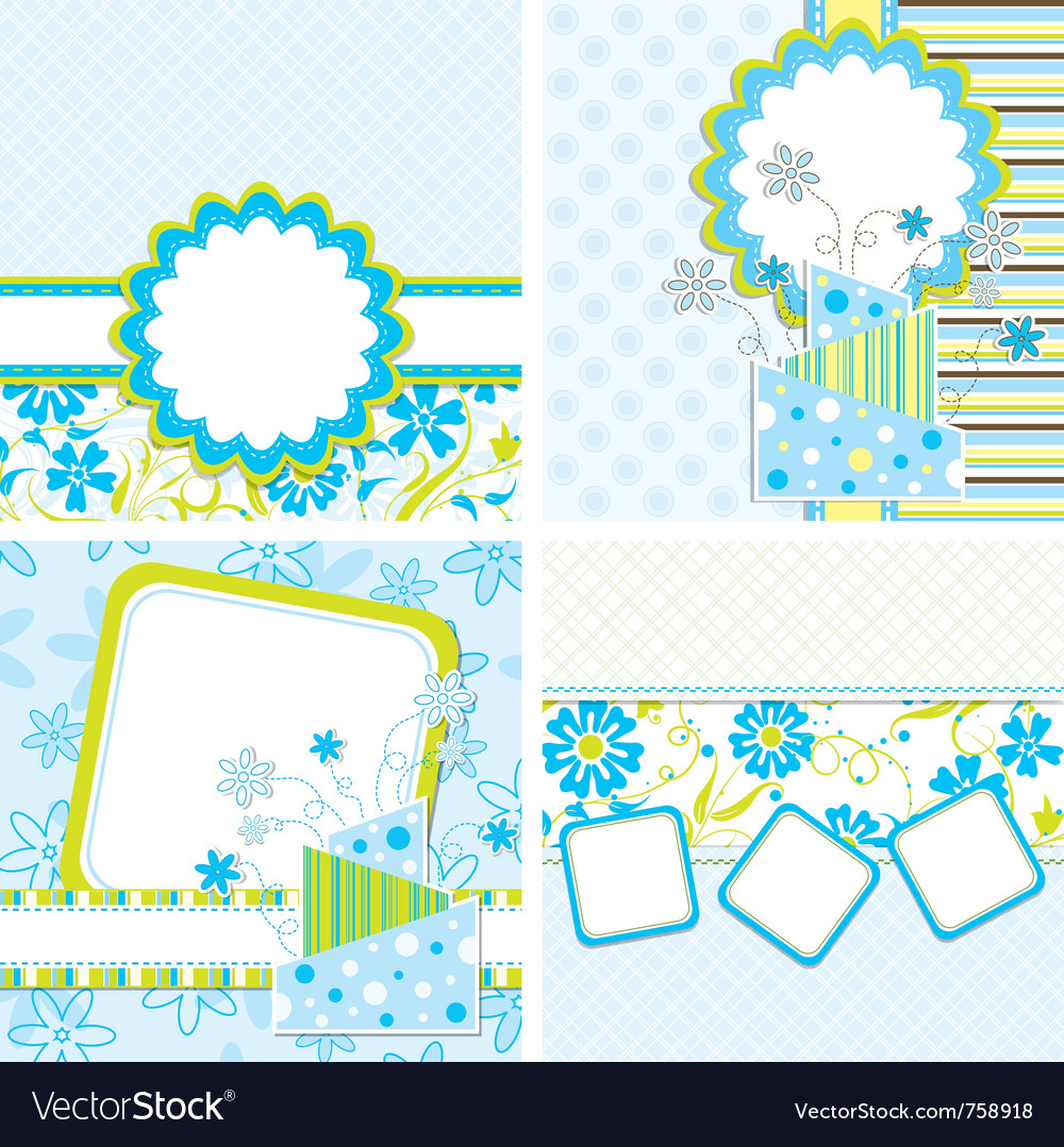 Template cake greeting card vector | Price: 1 Credit (USD $1)