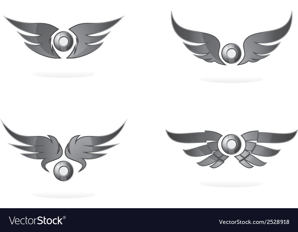 Wings icons vector | Price: 1 Credit (USD $1)