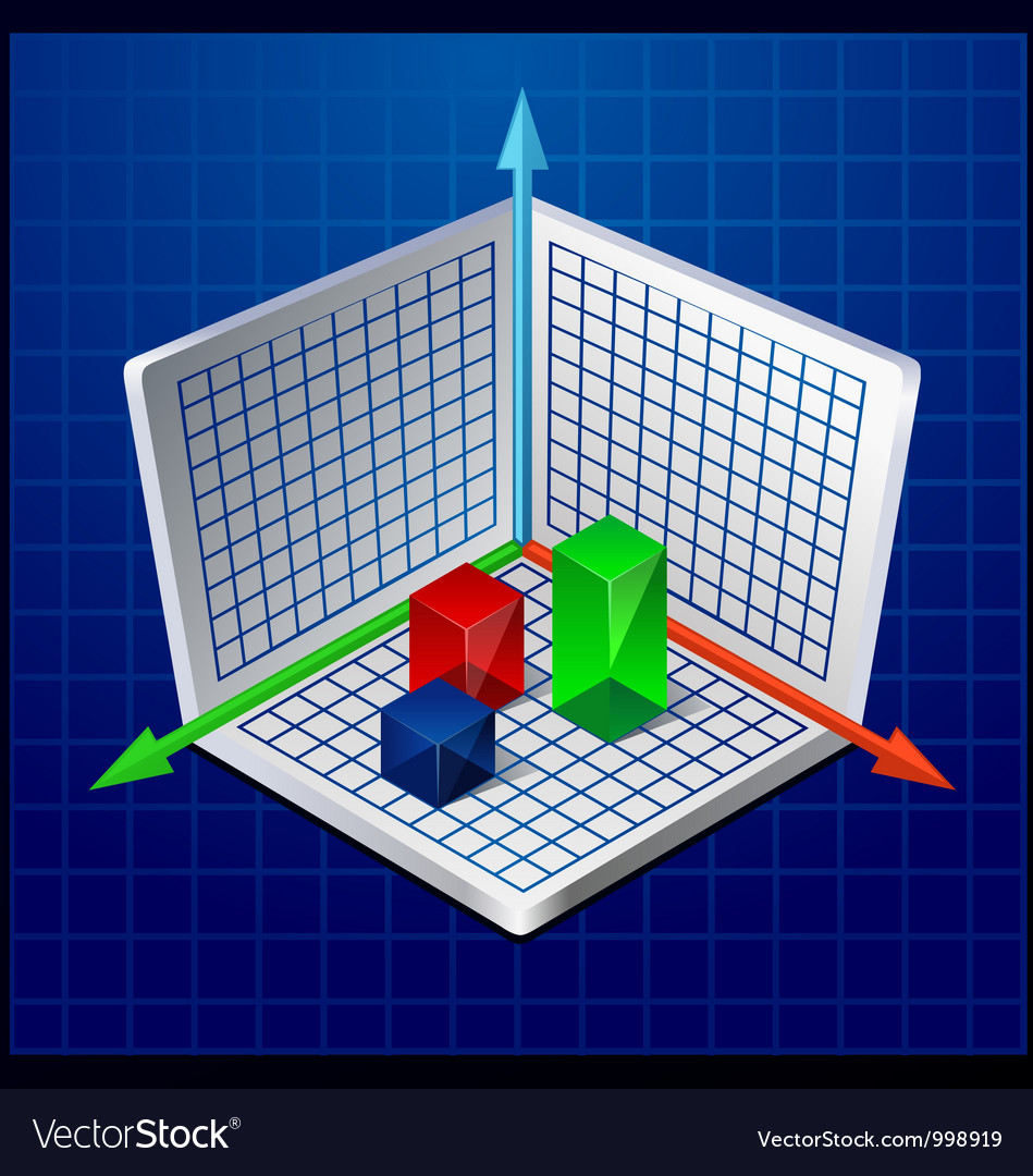 3d business graph or diagram vector | Price: 3 Credit (USD $3)