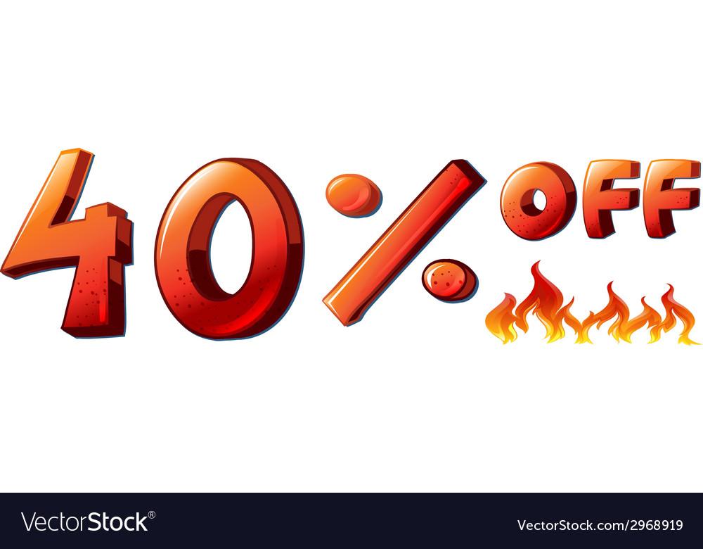 A big discounted sale vector | Price: 1 Credit (USD $1)