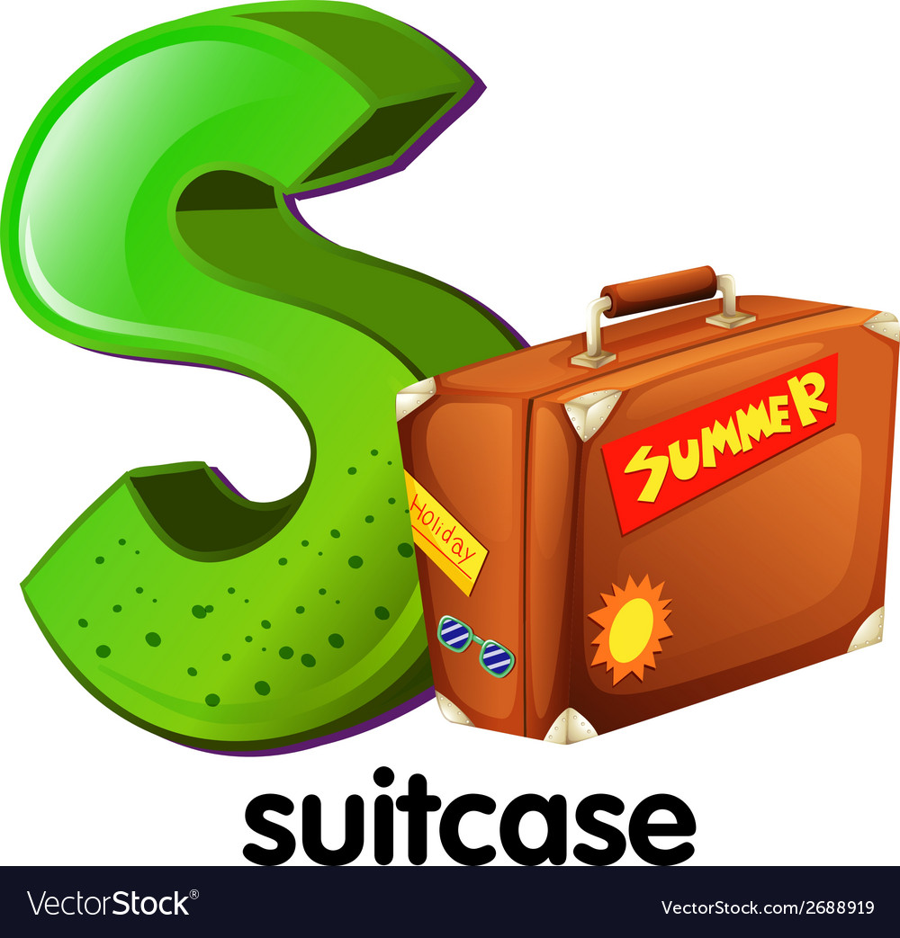 A letter s with a suitcase vector | Price: 1 Credit (USD $1)