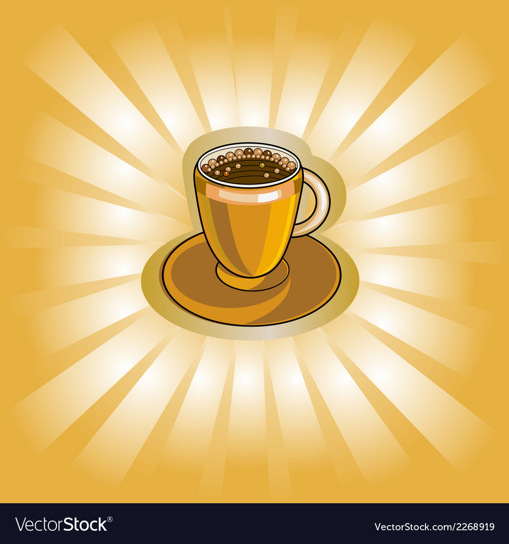 Banner with coffee cup vector | Price: 1 Credit (USD $1)