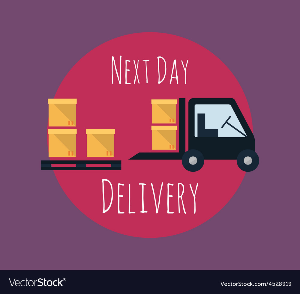 Cargo and delivery freight truck vector   Price: 1 Credit (USD $1)