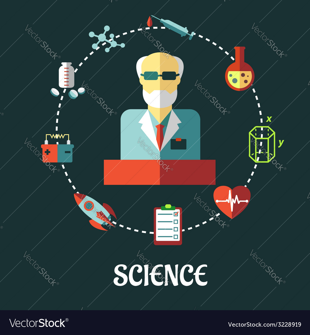 Different sciences flat concept vector | Price: 1 Credit (USD $1)