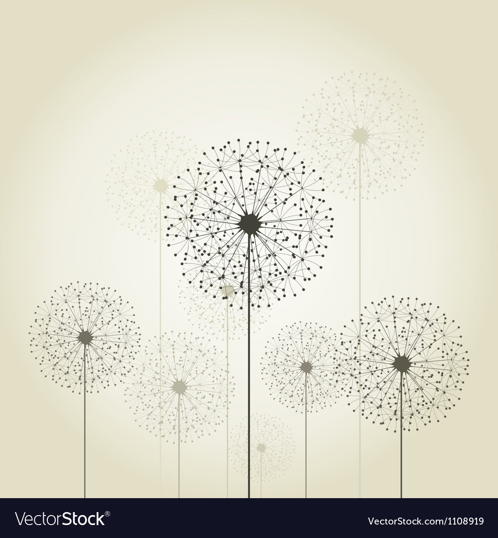 Flower a dandelion vector | Price: 1 Credit (USD $1)