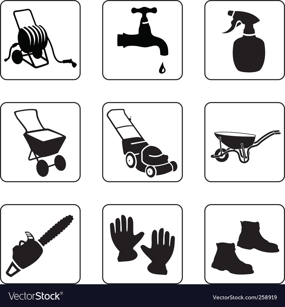 Garden equipment vector | Price: 1 Credit (USD $1)