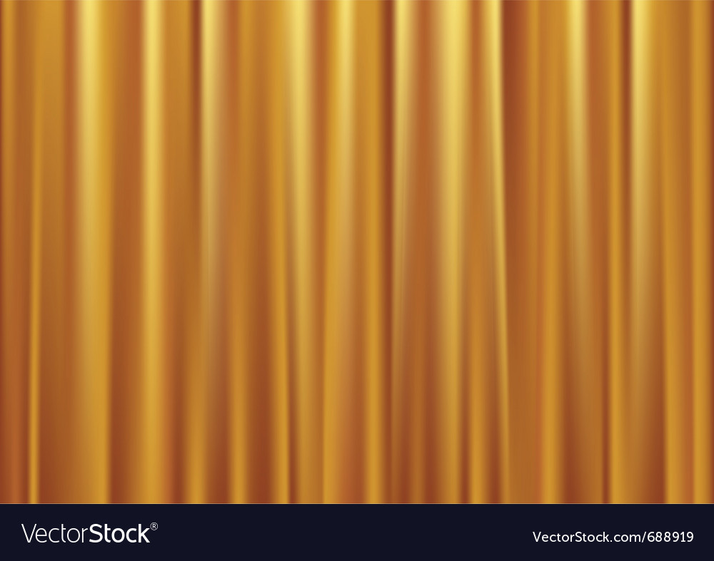 Gold curtain vector | Price: 1 Credit (USD $1)