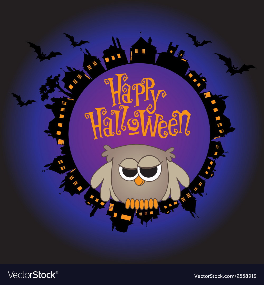 Halloween owl vector | Price: 1 Credit (USD $1)